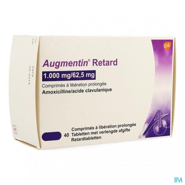 AUGMENTIN RETARD TABL 40X1G