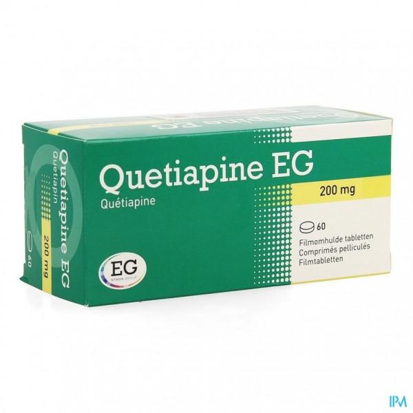 QUETIAPINE EG COMP PELL 60 X 200 MG